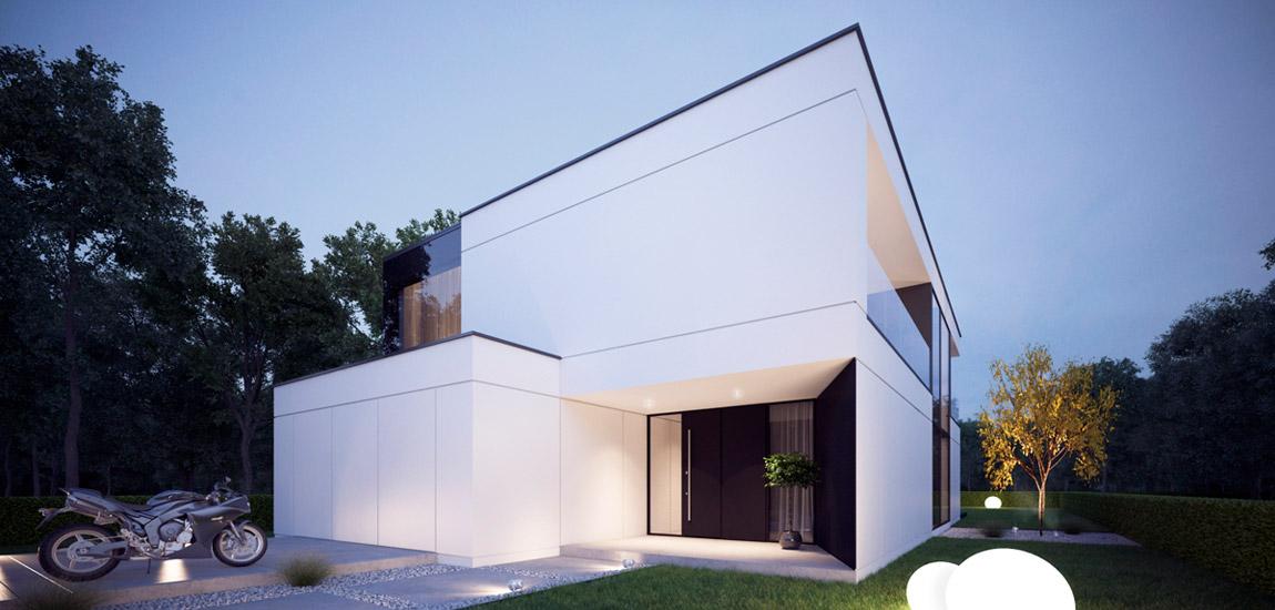 Czysta, minimalistyczna forma domu w Toruniu pracowni Z3Z Architekci