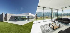 Dom ukryty na polu i jego efektowne wnętrza – świetna realizacja pracowni 81.WAW.PL