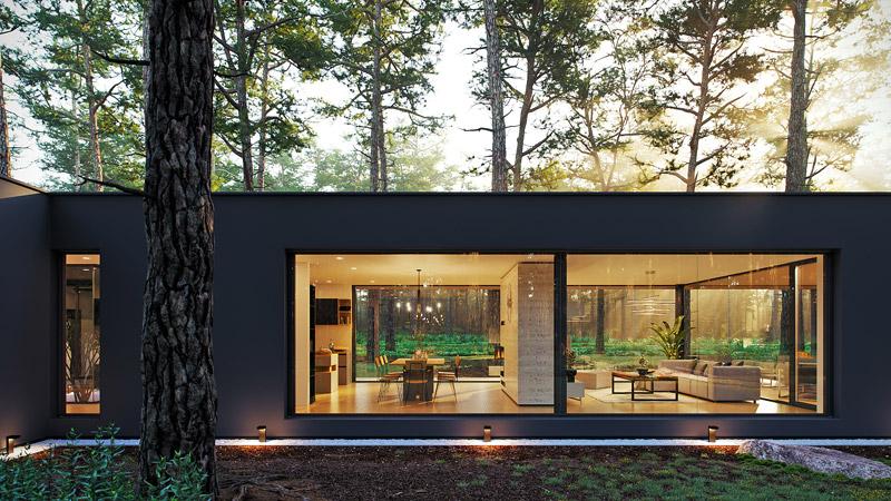 """Dom jednorodzinny """"WRO House"""". Projekt: BECZAK / BECZAK / ARCHITEKCI"""