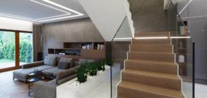 Eleganckie wnętrza domu pracowni Czajkowski Kuźniak Architekci