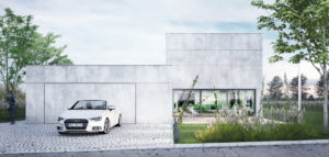 Dom betonowy pracowni INOSTUDIO architekci