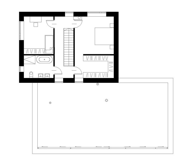 Dom betonowy z dachem płaskim, Gliwice. Projekt:INOSTUDIO architekci