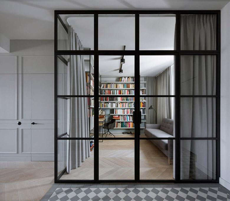 Apartament z prywatną biblioteką, Warszawa. Projekt wnętrz: Madama. Zdjęcia: Yassen Hristov