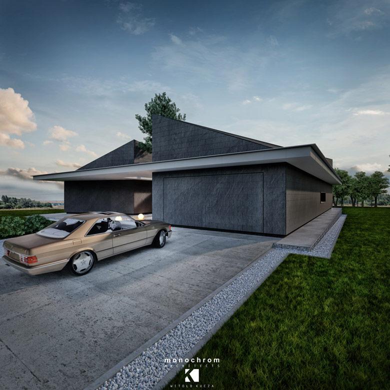 Dom Karbonado, Dąbrowa Górnicza. Projekt:Monochrom Architects | Witold Kucza