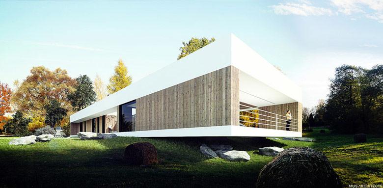 Dom nad Czarną Przemszą, Przeczyce. Projekt:MUS ARCHITECTS
