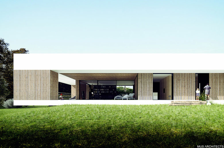 Dom nad Czarną Przemszą, Przeczyce. Projekt: MUS ARCHITECTS