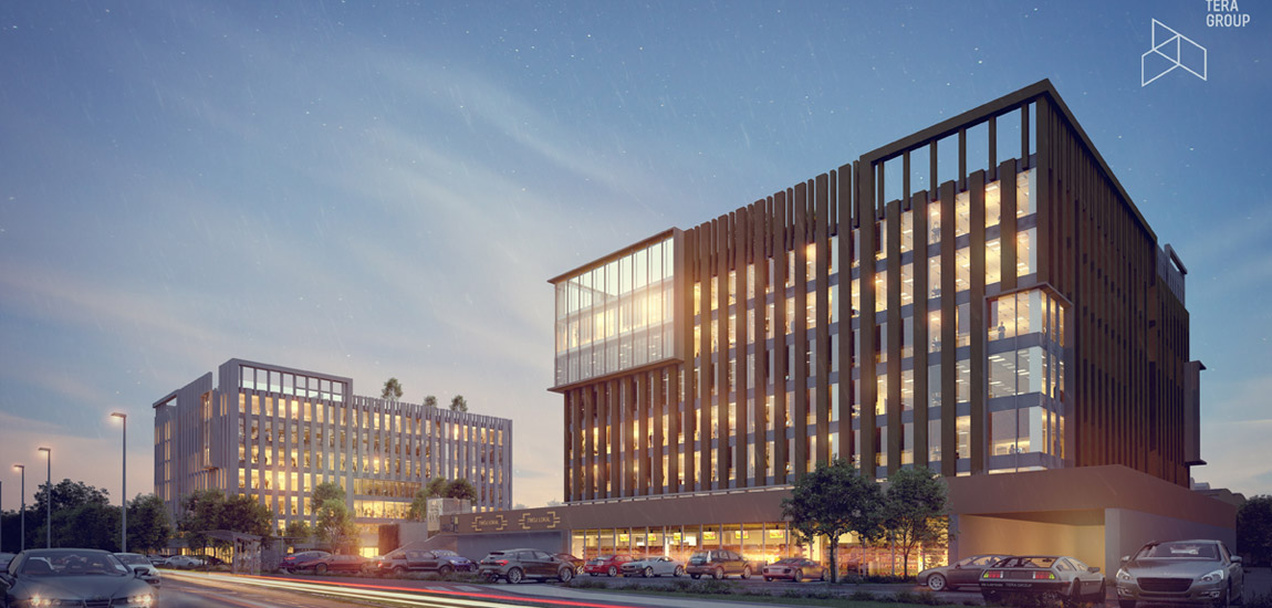 Kompleks biurowy w Kielcach. Projekt: Pracownia Architektoniczna Tera Group