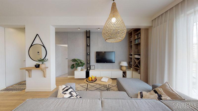 Wnętrza mieszkania w stylu Boho, Warszawa. Architekt: Natalia Szyk Trocha | Savagaya