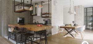 Drewno, szkło i stal w realizacji inspirowanej stylem skandynawskim pracowni Studio O.