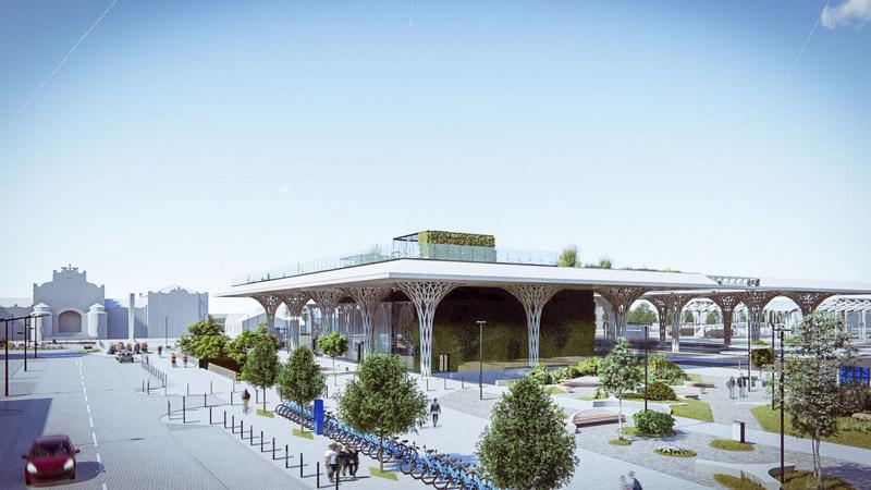 Dworzec Metropolitalny w Lublinie. Projekt: Tremend