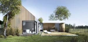 Dom z niewielkim atrium pracowni MOKAA Architekci