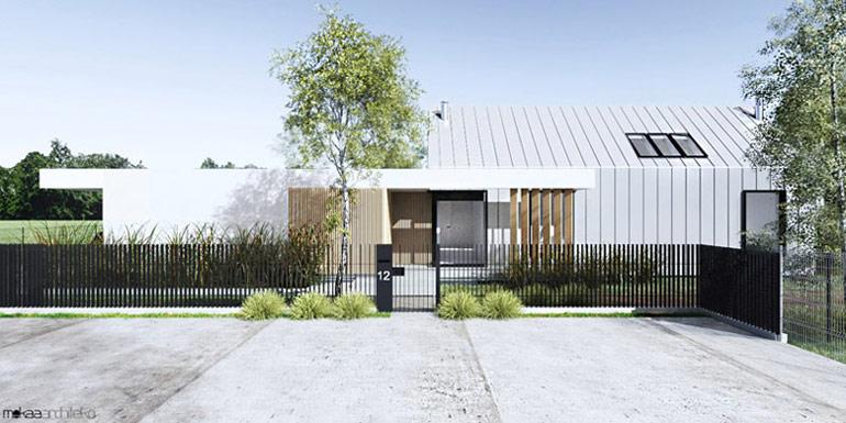 Dom parterowy, Oświęcim. Projekt:MOKAA Architekci