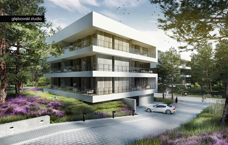 Kompleks hotelowo-apartamentowy Shellter Hotel & Apartments, Rogowo. Projekt: Głębowski Studio