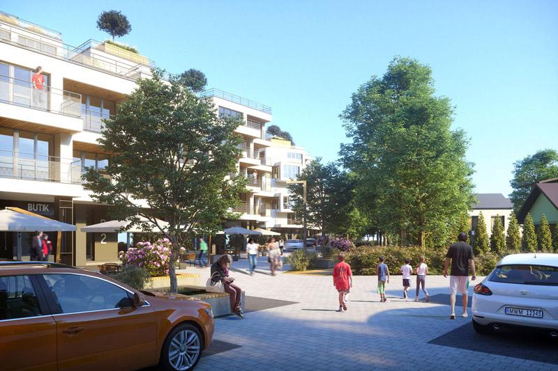 Osiedle mieszkalne na wzgórzach Zalesia, Rzeszów. Projekt: MWM Architekci