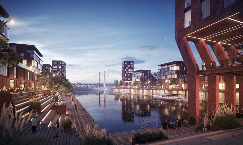 Port Popowice, Wrocław. Materiały prasowe Vantage Development