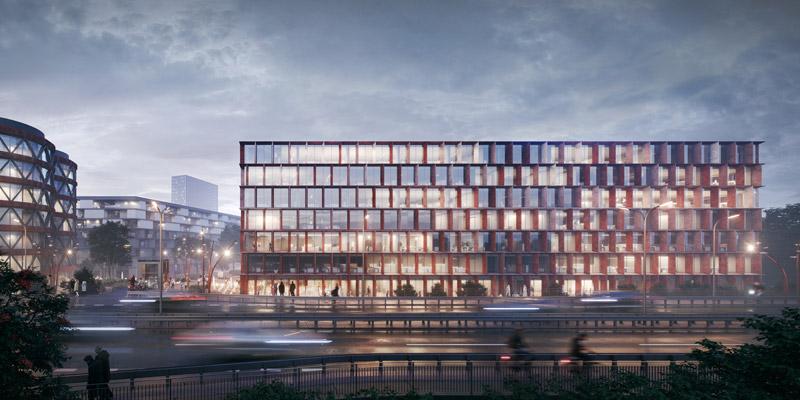 Konkurs na projekt biurowca, Port Popowice, Wrocław. I Nagroda: WXCA   Pracownia Architektoniczna