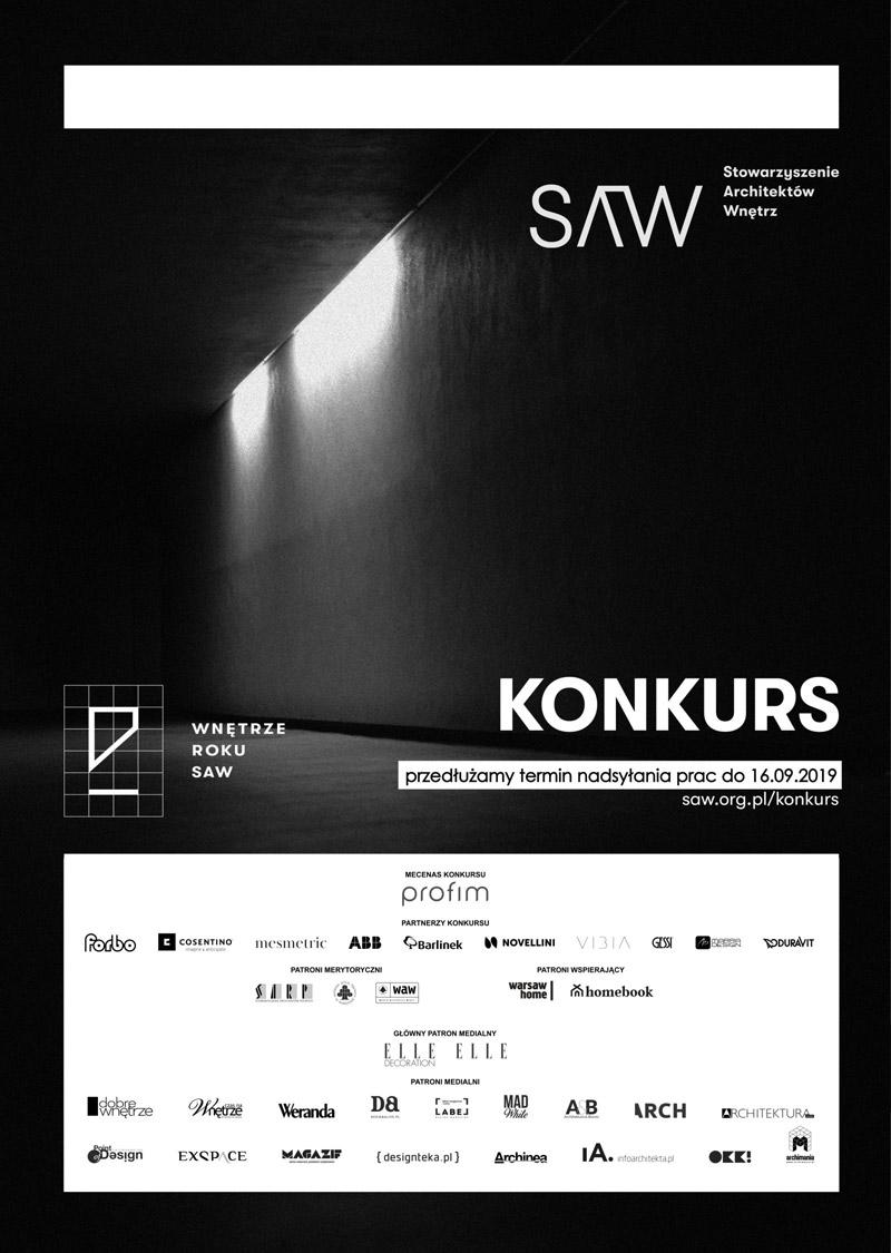 Konkurs Wnętrze Roku SAW