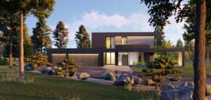 Dom w otoczeniu natury biura Urban Project