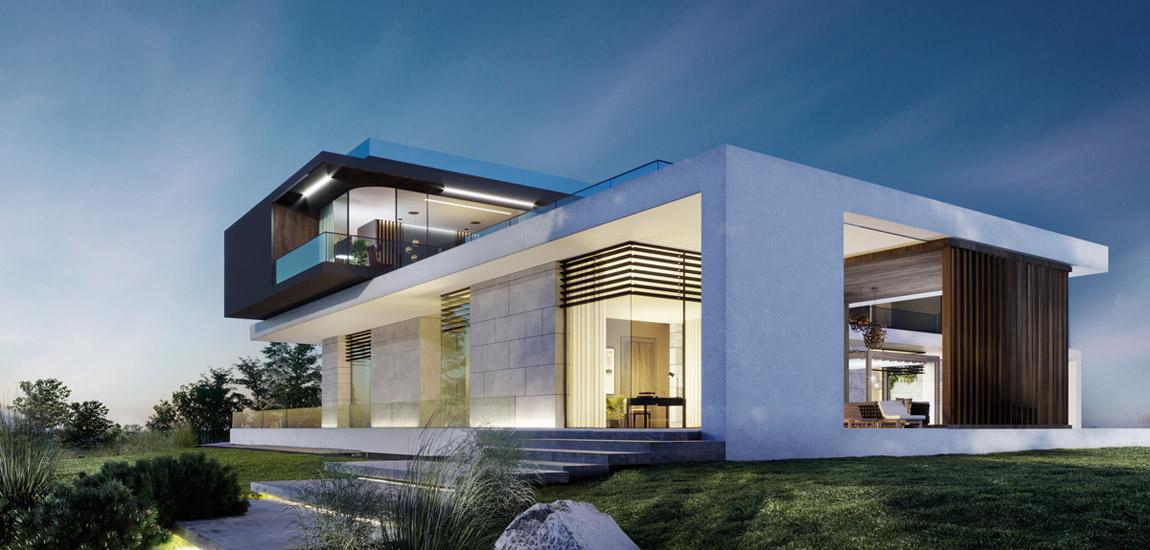 Autonomiczna rezydencja o współczesnej i efektownej formie pracowni JMW Architekci