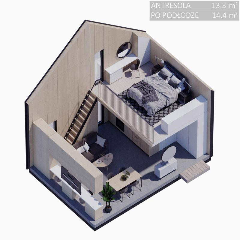 Dom Modulo House. Projekt: Jacek Krupa