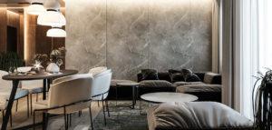 Bogactwo struktur i światła – wnętrza mieszkania projektu studia RATIO architekci