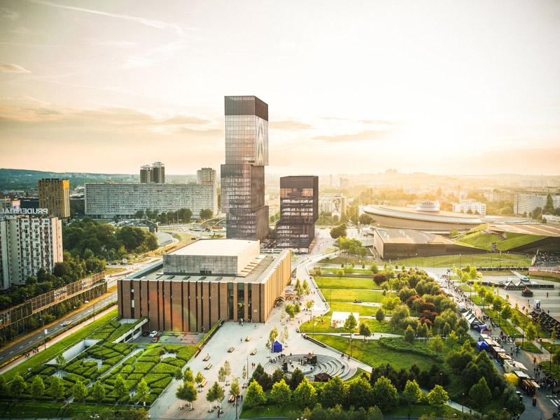 Biurowce .KTW w Katowicach. Projekt:Medusa Group | Przemo Łukasik, Łukasza Zagała