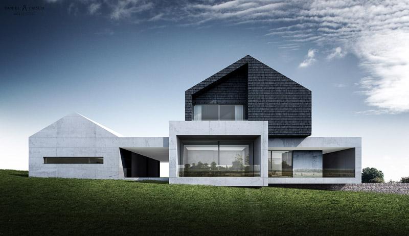Dom jednorodzinny w Gorlicach koło Nowego Sącza. Projekt:ANTA Architekci Daniel Cieślik