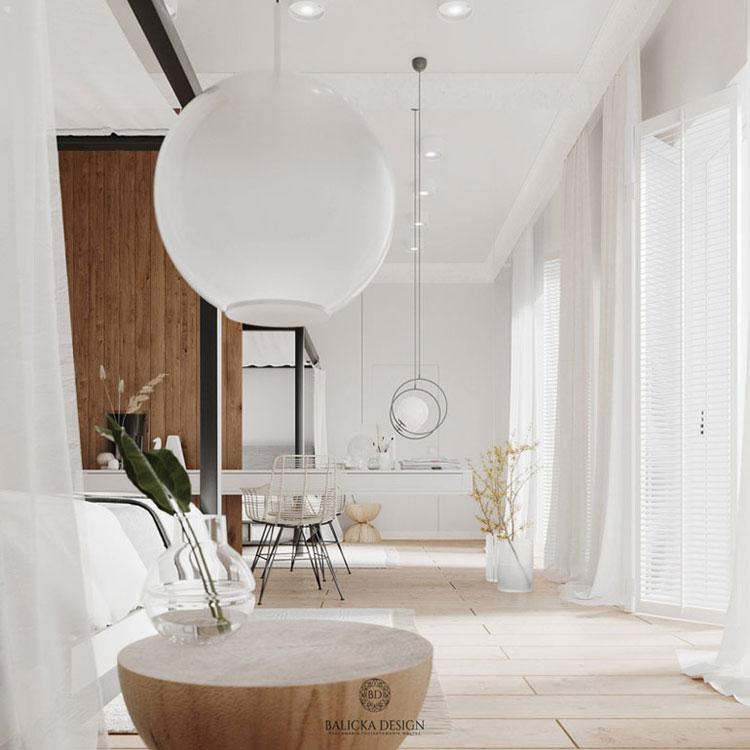 Wnętrza domu pod Warszawą. Projekt: Balicka Design
