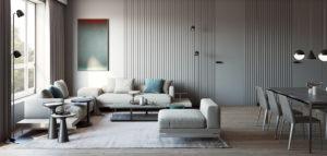 Proste formy i szlachetne materiały w apartamencie projektu studia Exit Design