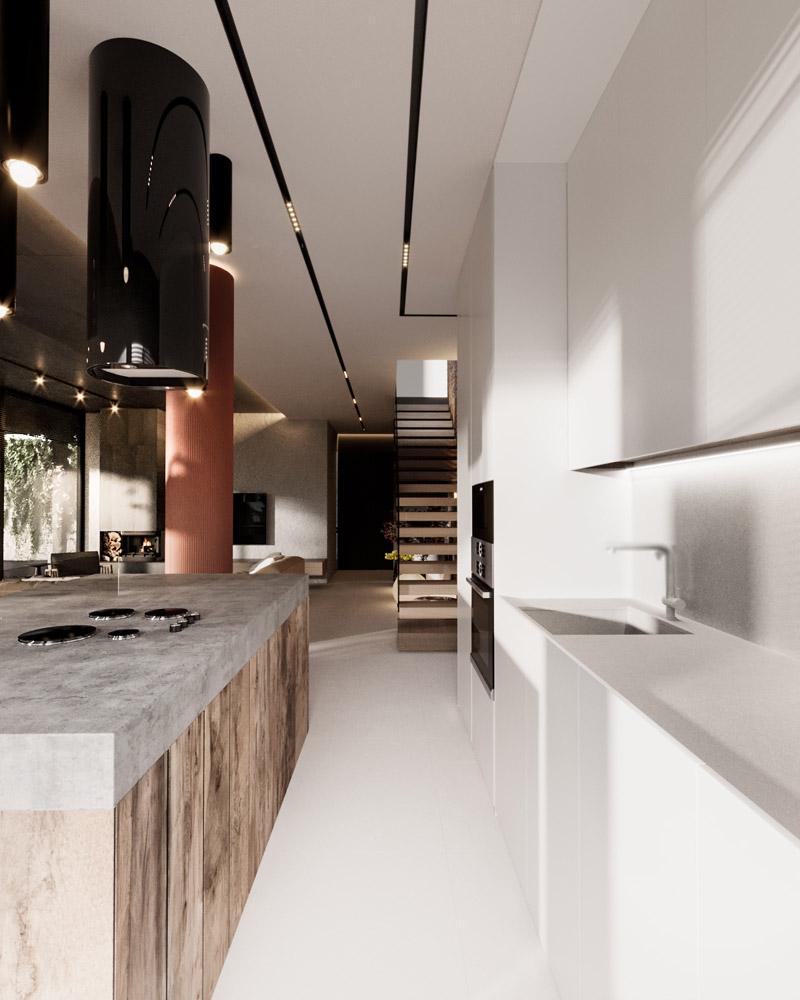 Wnętrza domu w Krakowie. Projekt:hilight.design