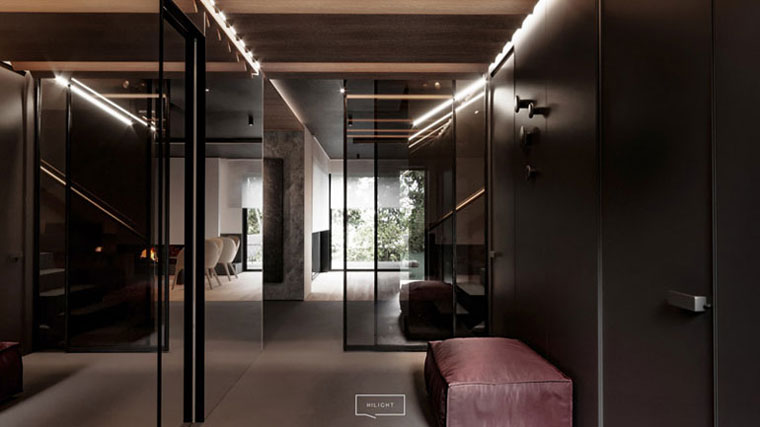 Nowoczesne wnętrza domu w Otwocku. Projekt:hilight.design