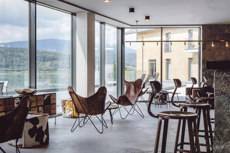 Lake Hill Resort & Spa, Sosnówka. Projekt wnętrz:Ideograf | Paulina Czurak. Zdjęcie:Ola Kaczmarek