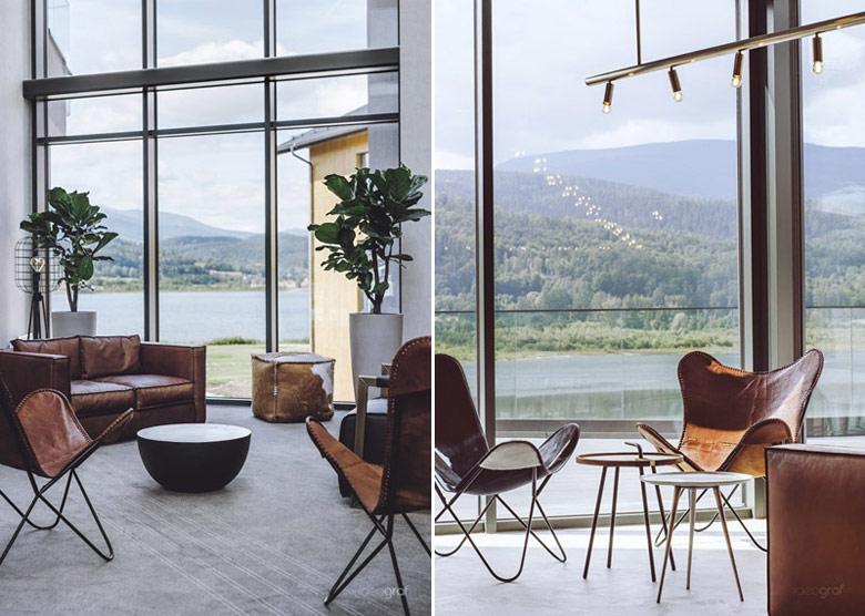 Lake Hill Resort & Spa, Sosnówka. Projekt wnętrz:Ideograf | Paulina Czurak. Zdjęcia:Ola Kaczmarek