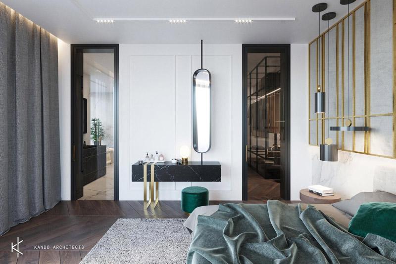 Apartament z wdziękiem, Kraków Projekt wnętrz:KANDO ARCHITECTS