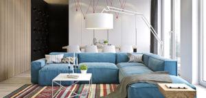 Kolorowy apartament projektu Spacja Studio