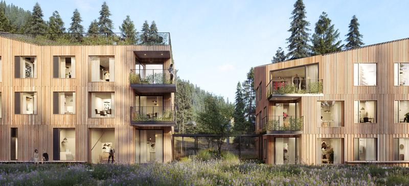 Apartamenty XYZ w Szczyrku. Projekt: WXCA | Pracownia Architektoniczna