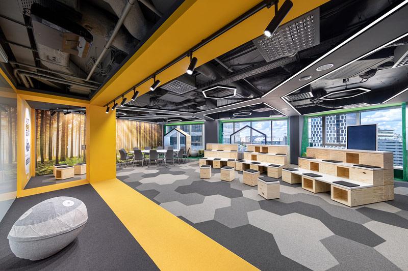Rozbudowa siedziby BNP Paribas Securities Services, Warszawa. Projekt wnętrz:Massive Design. Zdj.:Szymon Polański