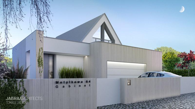 Projekt domu jednorodzinnego na wrocławskim Ołtaszynie. Autor: JABRAARCHITECTS Tomasz Zaleski