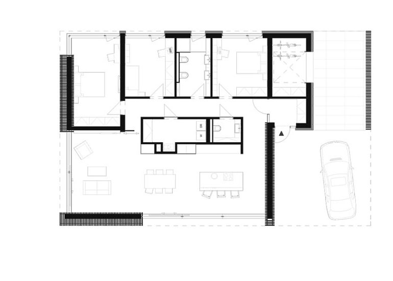 Dom w Blankensee. Projekt: Biuro projektowe maxberg – architekt Karol Nieradka