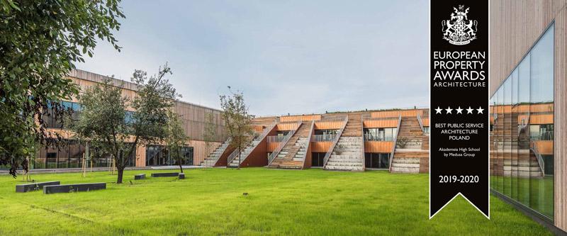 Akademeia High School, Warszawa. Projekt: Medusa Group. Zdjęcie:Juliusz i Jędrzej Sokołowscy