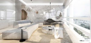 Apartament w luksusowym wieżowcu Złota 44 pracowni MOKAA Architekci