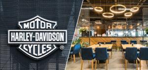 62 Bar & Restaurant w poznańskiej siedzibie Harley Davidson – wnętrza projektu Q2Studio