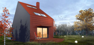 Dom na bardzo wąskiej działce pracowni SAN Architektura