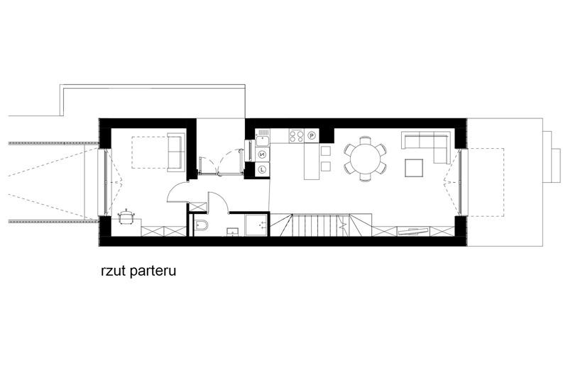 Dom na wąskiej działce w Krakowie. Projekt: SAN Architektura