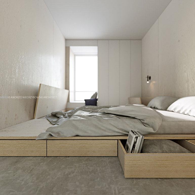 Projekt wnętrz mieszkania, kompleks Silva, Gdynia. Autor: Andrzej Niegrzybowski