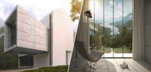 Luneta House – projekt domu z przestrzenią do kontemplacji pracowni Autograf Studio