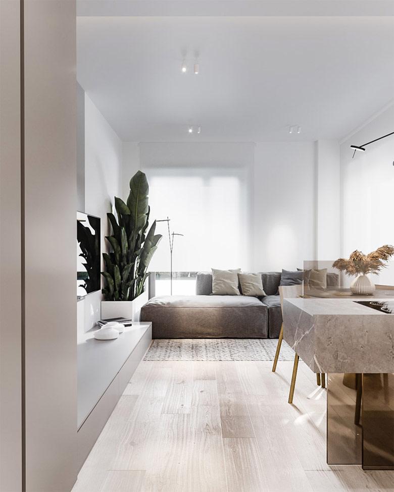 Wnętrza mieszkania w Warszawie. Projekt:hilight.design