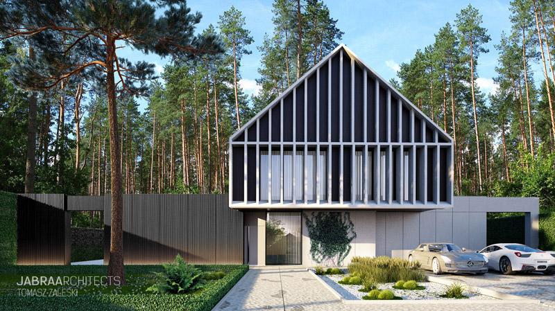Willa Pinus, Magdalenka pod Warszawą. Projekt:JABRAARCHITECTS Tomasz Zaleski