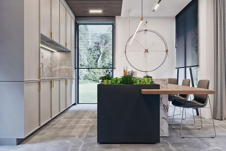 Wnętrza domu jednorodzinnego w Lublinie. Projekt: KONZEPT Architekci
