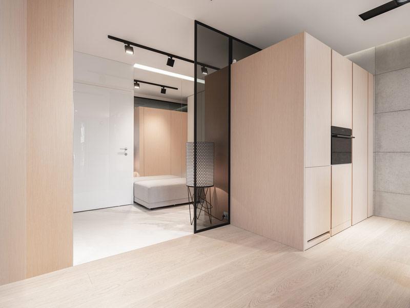 Apartament na warszawskim Powiślu. Projekt wnętrz:MOKAA Architekci